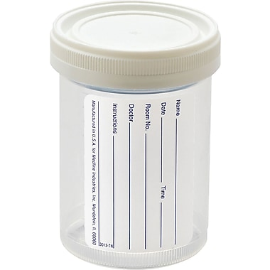 Medline Pneumatic Tube Sterile Specimen Containers, 4 oz Size, 100/Pack