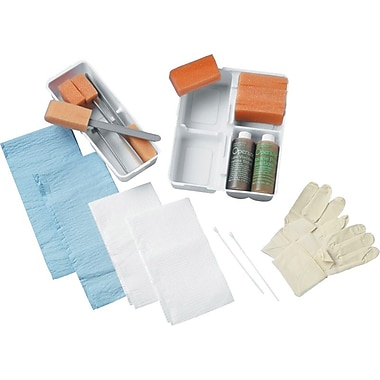 Medline Wet Skin Scrub E-Kits with Surgeon Gloves, 20/Pack