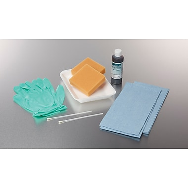 Medline PVP Gel Skin Surgical Scrub Trays with 4 Sponge Sticks, 20/Pack