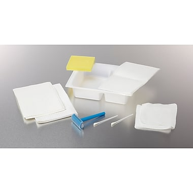 Medline Dual Compartment Shave Prep Trays, 50/Pack