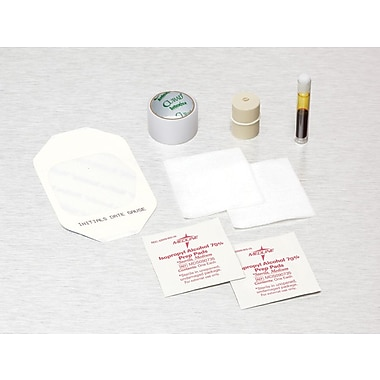 Medline IV Start Kits with Alcohol/PVP, Latex, Transparent, 100/Pack