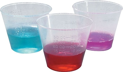 Medline DYND80000 Non-sterile Graduated Plastic Medicine Cups 1 oz. 110185