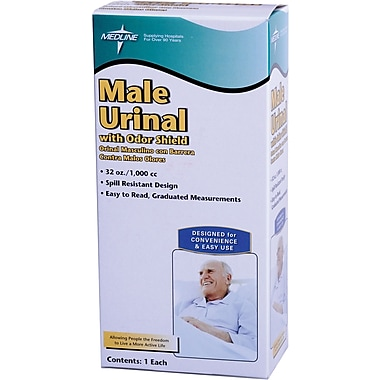 Medline Retail Urinals, 6/Pack