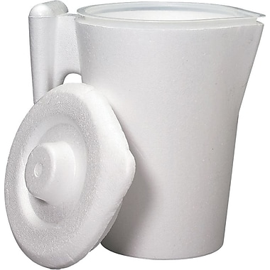 Medline Insulated Plastic Bedside Pitchers, White, 32 oz, 50/Pack