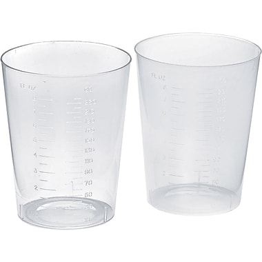 Medline Polypropylene Intake Tumbler, Translucent, 500/Pack