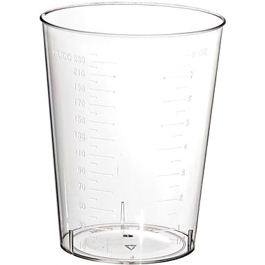 Medline Polystyrene Intake Tumblers, Translucent, 500/Pack