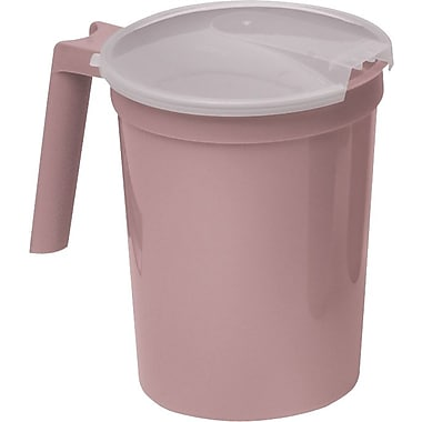 Medline Non-insulated Plastic Pitchers, Mauve, 100/Pack