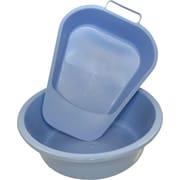 Medline Round Plastic Washbasins, Light Blue, 5 qt, 12/Pack