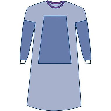 EclipseSterile Fabric-reinforced Surgical Gowns, Blue, Large, Hook and Loop, 30/Pack