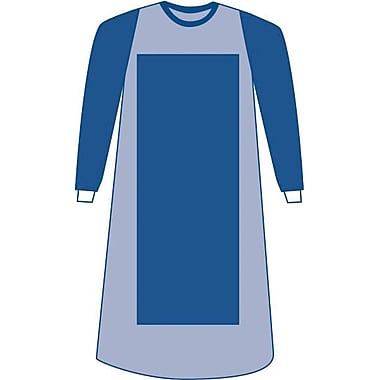 Eclipse Sterile Poly-reinforced Surgical Gowns, Blue, XL, Hook and Loop, 30/Pack