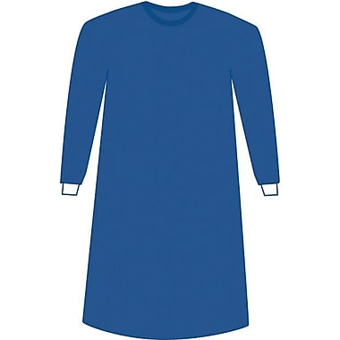 Prevention™ Plus Impervious Surgical Gown, Blue, Large, Extra Long, Hook and Loop, 24/Pack