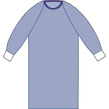 Sirus® Sterile Non-reinforced Surgical Gowns With Raglan Sleeve, Blue, XL, Hook and Loop, 30/Pack