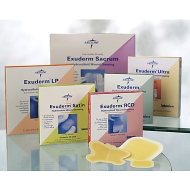 Exuderm® Lp Thin Hydrocolloid Dressings, 4in. L x 4in. W, 10/Box