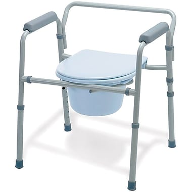 Guardian® Folding 3-in-1 Commodes, 350 lb, 4/Pack