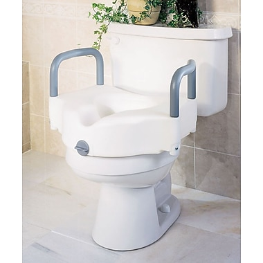 Guardian Signature™ Locking Raised Toilet Seats with Arms, 5in. H Seat, 3/Pack