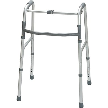 Guardian® Premium One-button Folding Walker, Adult, 31 1/2in. - 38 1/2in. H, 4/Pack