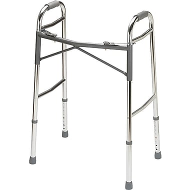 Guardian Signature™ Heavy-duty Basic Folding Walker, Junior Bariatric, 27in. - 34in. H, Each
