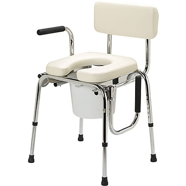 Guardian® Drop-arm Padded Commodes, 300 lb