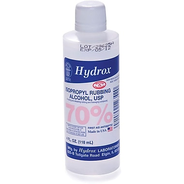 Hydrox Laboratories 70% Isopropyl Rubbing Alcohol, 4 oz, 60/Pack