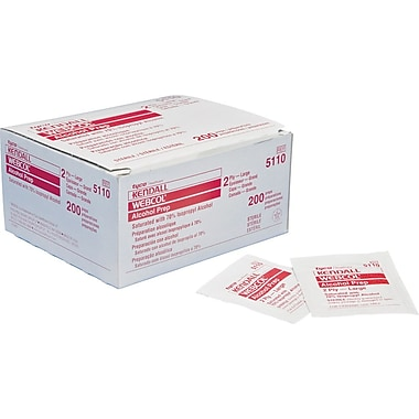 Webcol™ Alcohol Prep Pads, Large, 200/Box