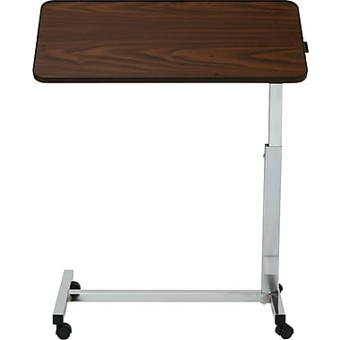 Medline Tilt Top H-base Overbed Tables, 30in. L x 15in. W x 28in. - 45in. H