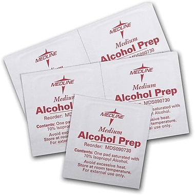 Medline Sterile Alcohol Prep Pads, Medium, Bulk, 3000/Pack