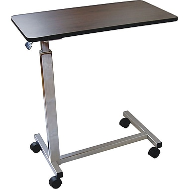 Medline Flush Edge U-base Overbed Tables, 30in. L x 15in. W x 28in. - 45in. H