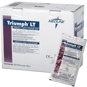 "Triumph® LT Powder-free Latex Surgical Gloves, White, 6 1/2 Size, 12"" L, 200/Pack"