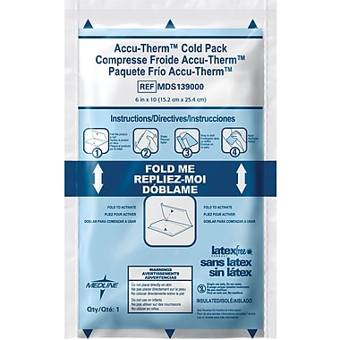 Accu-Therm™ Instant Cold Packs, 6in. L x 4in. W, 16/Pack