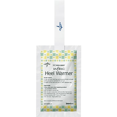 Medline Infant Heel Warmers, 5in. L x 3in. W, 25/Box