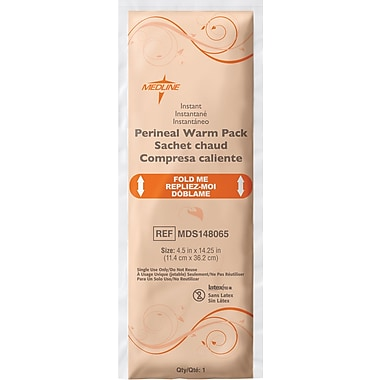 Rapid Aid Deluxe Perineal Warm Packs, 14 1/4in. L x 4 1/2in. W, 24/Pack