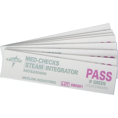 Medline Surgical Instruments Sterilization Integrator Strips, 4in. L, 2500/Pack