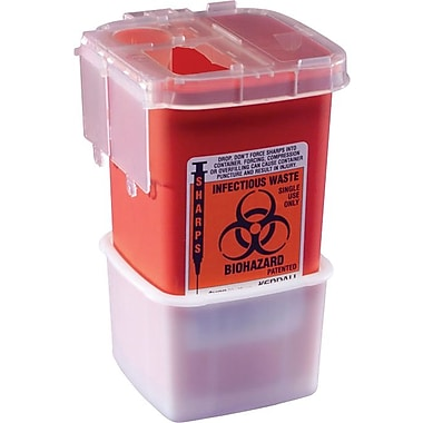 Medline Phlebotomy Sharps Containers, 1 qt, 100/Pack