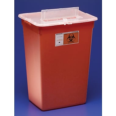 SharpSafety™ In-Room™ Biohazard Sharps Containers, 5 qt, Red, 20/Pack