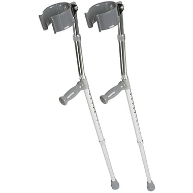 Medline Forearm Crutch, 4 ft 2in. to 5 ft 2in. H, Youth