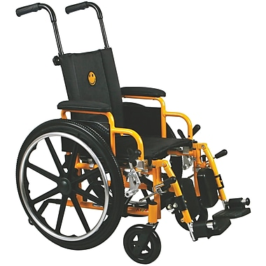 Medline Excel Kidz Pediatric Wheelchair, 14in. W x 12in. D Seat, Flip Back Desk Arm, Elevating Leg