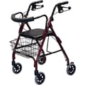 Guardian® Deluxe Rollators, Burgundy, Each