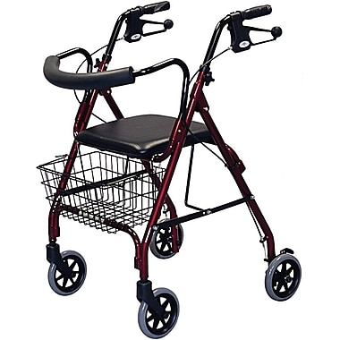 Guardian® Deluxe Rollators, Green, Each