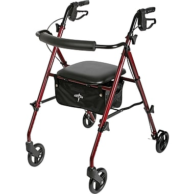 Medline MDS86825SLBLK Freedom Ultralight Rollator, Black