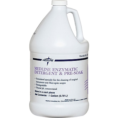 Medline Dual Enzymatic Surgical Instrument Detergent and Presoak, 1 gal Size