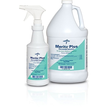 Meritz® Plus Surgical Instrument Disinfectant/Decontaminants, 1 gal Size, 4/Pack