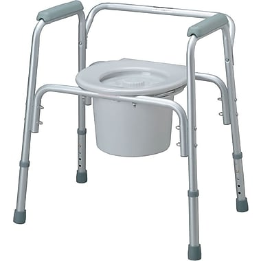 Medline Bedside Commodes, 300 lb, 4/Pack
