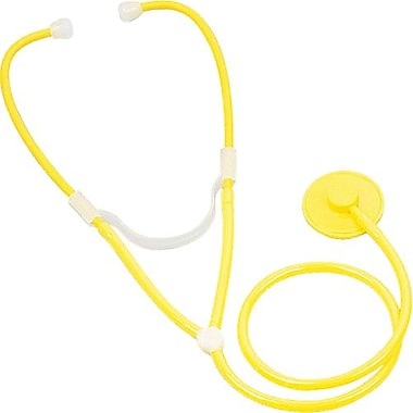 Medline Disposable Dual Head Stethoscopes, Yellow