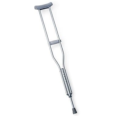 Medline Standard Aluminum Crutch, Adult, 8/Pack