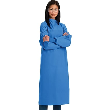 Stericloth®® Critical Coverage Gown, Ceil Blue, Large, Tie Neck and Back, Dozen