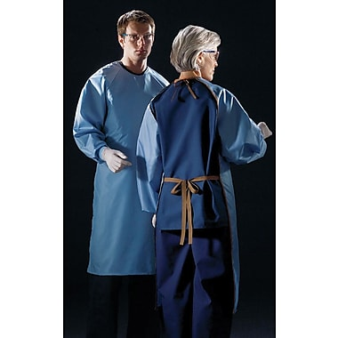 ASEP® Unisex A/S Barrier Backless Surgical Gowns, Ceil Blue, OSFM, Ties at Neck & Back, Dozen