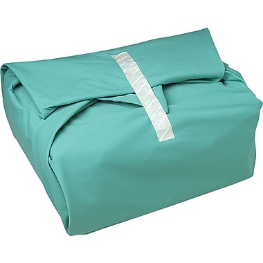 AngelStat™ Bias Bound Wrappers, Misty Green, Ciel Blue Stitching, 36in. x 36in. Size