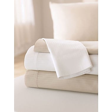 Feels Like Home Reverse Sateen Sheeting T310 Pillowcases, Bone, 36in. L x 42in. W