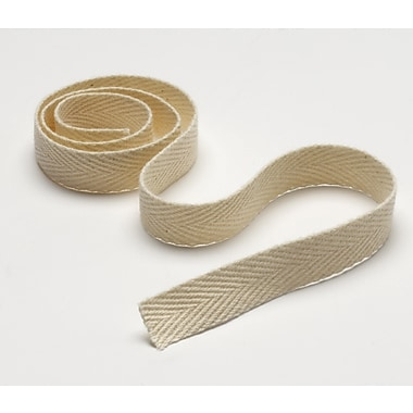 Medline 100% Polyester Unbleached Twill Tape, Unbleached, 1/2in.