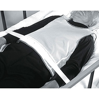 Medline Tie-back Patient Safety Vests, Large, 6/Pack